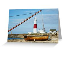 A different view of Portland Bill lighthouse Greeting Card