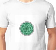 flower with striped round mint Unisex T-Shirt