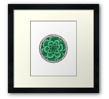 flower with striped round mint Framed Print