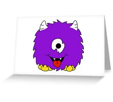 Fuzzy Little Monsters - Purple 2 Greeting Card
