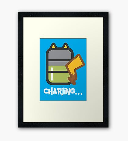 Charjing... Framed Print
