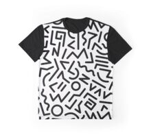 Memphis Pattern Black and White Graphic T-Shirt