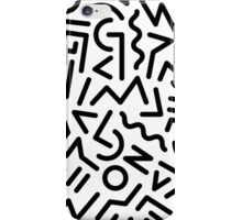 Memphis Pattern Black and White iPhone Case/Skin