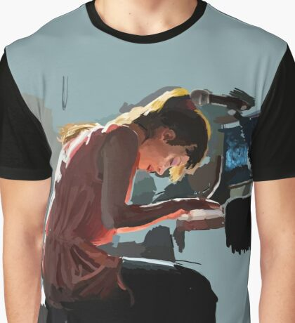 Fiona Apple Speed Paint Graphic T-Shirt