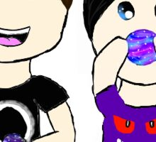Dan And Phil- Galaxy Bath Bomb Buddies Sticker