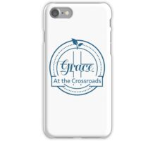 GRACE AT THE CROSSROADS BLUE LOGO iPhone Case/Skin