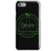 GRACE AT THE CROSSROADS GREEN LOGO iPhone Case/Skin