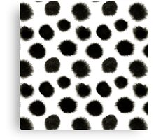 Pattern with black spots Canvas Print