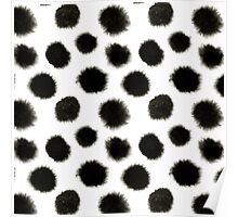 Pattern with black spots Poster
