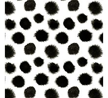 Pattern with black spots Photographic Print