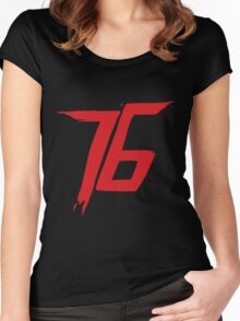 Soldier 76 logo Women's Fitted Scoop T-Shirt