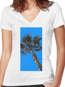 Palm 6  Women's Fitted V-Neck T-Shirt