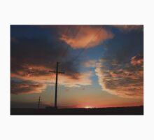 Power Line Sunset One Piece - Short Sleeve