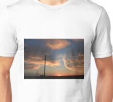 Power Line Sunset Unisex T-Shirt