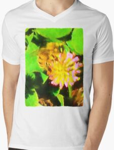 Bee and Clover Mens V-Neck T-Shirt