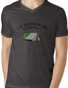 I'd Rather Be Camping Mens V-Neck T-Shirt