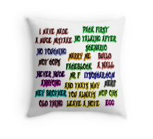 Development Arrested Again Throw Pillow