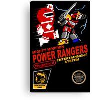 8-bit Power Rangers Canvas Print