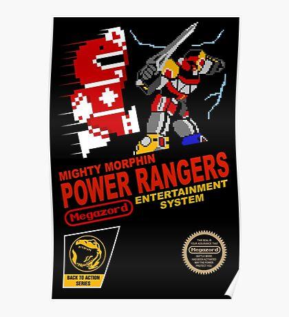 8-bit Power Rangers Poster