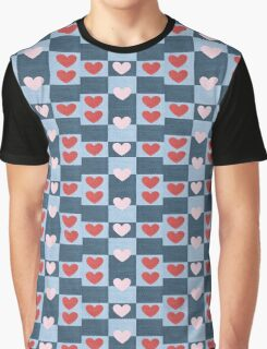pink heart pattern Graphic T-Shirt