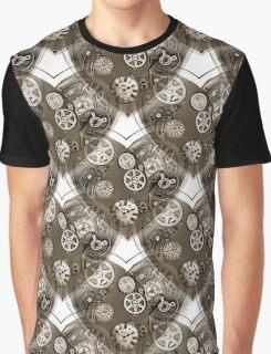 Mechanical Cog Hearts Graphic T-Shirt