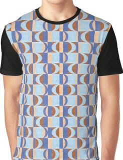 Abstract Retro Geometric  Graphic T-Shirt