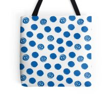 Pattern with blue polka dots Tote Bag
