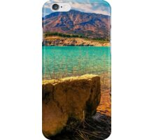 The rock and the mountains at Amadorio iPhone Case/Skin