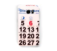 calendar with numbers Samsung Galaxy Case/Skin