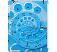 Vintage  Retro Blue Rotary Dial Spiral Droste iPad Case/Skin