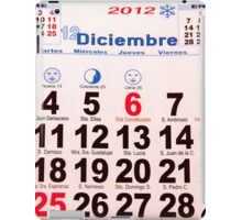 calendar with numbers iPad Case/Skin