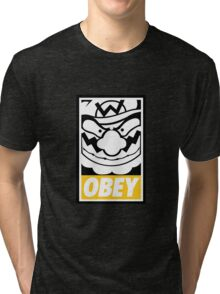 OBEY WARIO Tri-blend T-Shirt