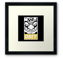 OBEY WARIO Framed Print