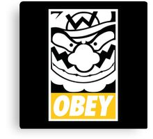OBEY WARIO Canvas Print