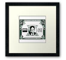 Schrute Buck Framed Print