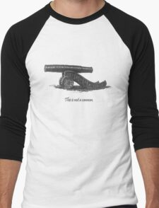 This is not a cannon. Men's Baseball ¾ T-Shirt