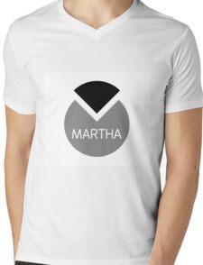 american first name female: Martha Mens V-Neck T-Shirt