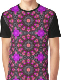 Surreal Blossoms 001, Flower Mandala Graphic T-Shirt