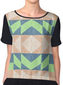 Abstract retro geometric  Chiffon Top