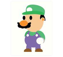 Minimal Luigi Art Print