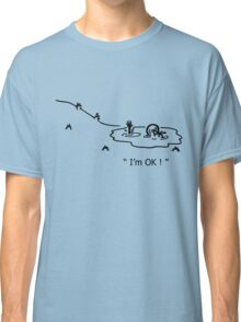 """I'm OK!"" Cycling Crash Cartoon Classic T-Shirt"