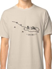 """I'm OK!"" Cycling Crash Cartoon Classic T-Shirt"