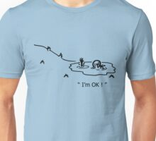 """I'm OK!"" Cycling Crash Cartoon Unisex T-Shirt"