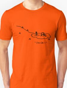 """I'm OK!"" Cycling Crash Cartoon T-Shirt"