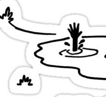 """I'm OK!"" Cycling Crash Cartoon Sticker"