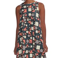 geometric maze A-Line Dress