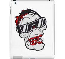 gesicht kopf rocker hard rock heavy metal musik party feiern band konzert festival sonnenbrille böse ekelig monster horror halloween zombie  iPad Case/Skin