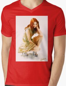Karen Gillan Mens V-Neck T-Shirt