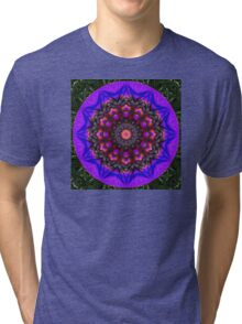 Surreal Blossoms, Flower Mandala Tri-blend T-Shirt