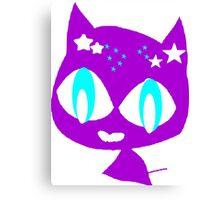 Purple kitten Canvas Print